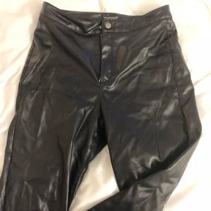 TOPSHOP Pleather High Rise Pants